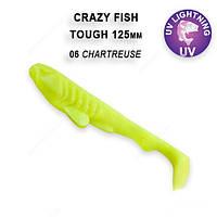 """Силикон Сrazy Fish TOUGH 5""""TOUGH 5"""" шартрес кальмар 28-125-6-6"""