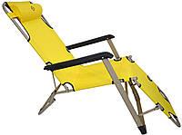 Шезлонг лежак Bonro 180 см желтый