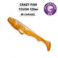 """Силикон Сrazy Fish TOUGH 5"""" карамель кальмар 28-125-9-6"""
