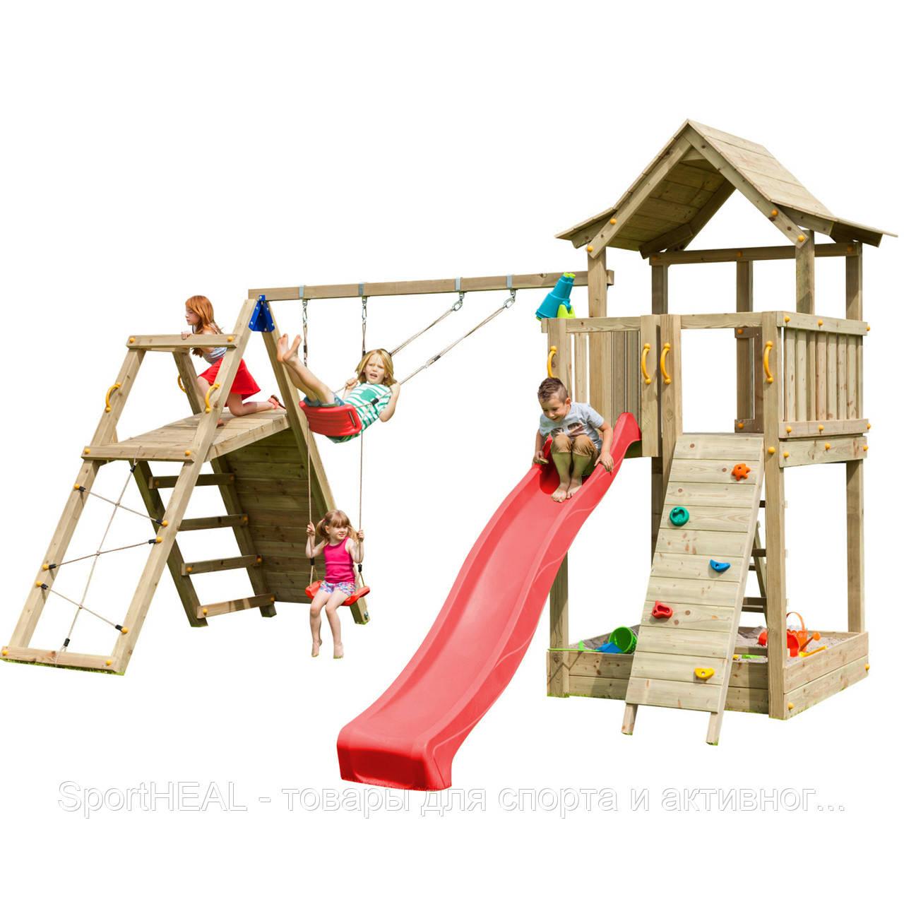 Детская игровая площадка Blue Rabbit PAGODA + CHALLENGER Червона