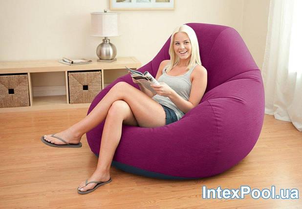 Надувне крісло-велюр Intex 122х127х81 см (68584), фото 2