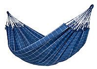 Гамак двухместный подвесной тканевый 356х160см Синий
