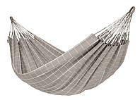 Гамак двухместный тканевый подвесной 365х160см Серый