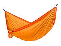 Гамак двухместный подвесной тканевый 350х190см Оранжевый
