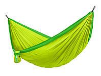 Гамак туристический двухместный 350х190см Зеленый