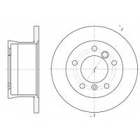 Тормозной диск задний MERCEDES-BENZ SPRINTER 2-t/3-t,VW LT 28-35 II,пр-во ABE C4W007ABE, фото 1