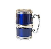 Магнитная термокружка Живая вода, Синий