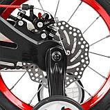 Детский двухколесный велосипед Profi Infinity 14 дюймов на магниевой раме черно-красный матовый. Для детей 3-5, фото 5