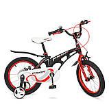Детский двухколесный велосипед Profi Infinity 16 дюймов, LMG16201 черно-красный матовый. Для детей 5-7 лет, фото 2