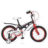 Детский двухколесный велосипед Profi Infinity 16 дюймов, LMG16201 черно-красный матовый. Для детей 5-7 лет, фото 3