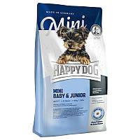 Сухой корм для щенков и собак малых пород Happy Dog Supreme Mini Baby Junior Хэппи Дог Мини 4 кг