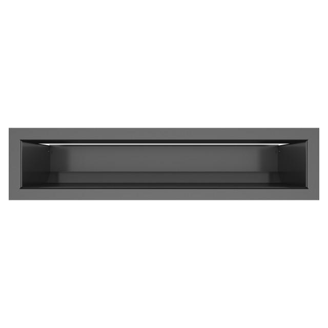 Вентиляційна решітка для каміна SAVEN Loft 90х400 графітова