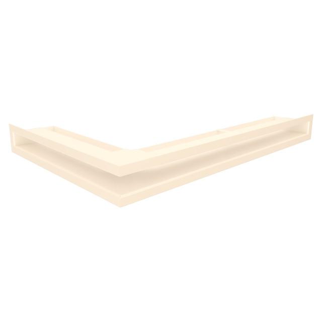 Вентиляційна решітка для каміна кутова права SAVEN Loft Angle 60х600х400 кремова