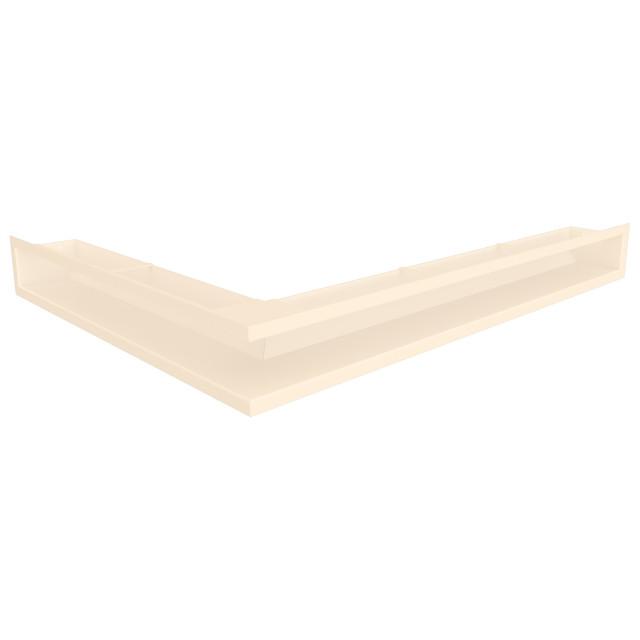 Вентиляційна решітка для каміна кутова права SAVEN Loft Angle 90х800х600 кремова