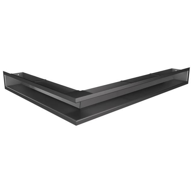 Вентиляційна решітка для каміна кутова права SAVEN Loft Angle 90х800х600 графітова