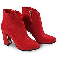 Женские ботинки красного цвета Mainila