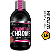 Жиросжигатель BioTech L-Carnitine + Chrome 500мл, грейпфрут