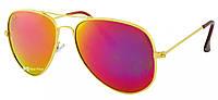 Солнцезащитные очки Ray Ban Aviator капля RB 3026 3C красные (реплика)