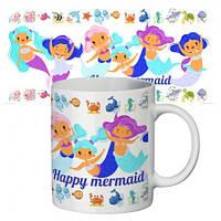 Чашка с принтом 63163 Счастливая русалочка