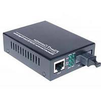 Медиаконвертер Merlion 10/100Base-TX to 100Base-F 1550нм, SM, SC/RJ-45, 25 км +БП (HTB-3100B / 1550_WDM)
