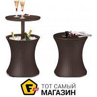 Стол пластик Keter Cool Bar Rattan коричневый (17194548)