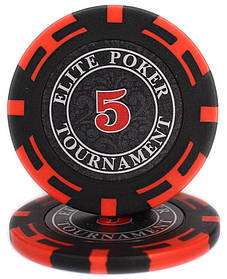 "Фишки ""Elite Poker Tournament"" цена 5"