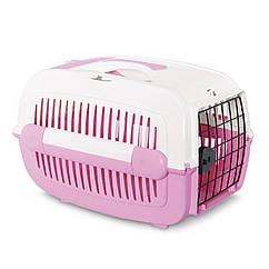 Контейнер-переноска для собак и кошек Pet Inn «Cosmos Sweet Line» 32 x 31 x 48 см розовая (111282)