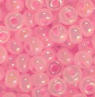 Бісер 57573, №10, Preciosa (Чехія), рожевий райдужний перламутровий, непрозорий