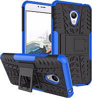 Чехол-накладка TOTO Dazzle Kickstand 2 in 1 Case Meizu M3S Blue
