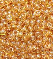 Бисер 48018, №10, Preciosa (Чехия), светло-коричневый, прозрачный