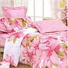 Семейное постельное белье GOLD комплект с розовыми цветами