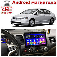 Штатная автомагнитола для Honda Civic 2005-2011 на ANDROID 8.1 (М-ХСв-10), фото 1