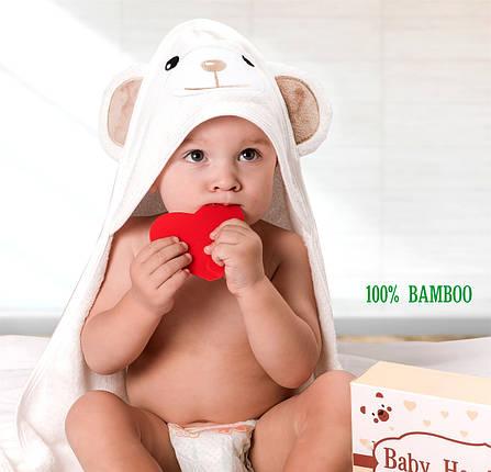 Премиальное Детское Полотенце с Капюшоном - Полотенце Уголок (от 0- 5 Лет) -Банное Полотенце - Бонус:Мочалка, фото 2