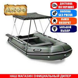 Тент для надувной моторной лодки Argo AM-420. (Лодочный тент на лодку 4,20м);