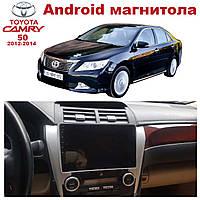 Штатная автомагнитола Toyota Camry 50 EURO 2012-2014 на ANDROID 8.1 (М-ТК50-10)