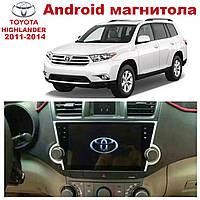 Штатная автомагнитола для Toyota Highlander 2011-2014 на ANDROID 8.1