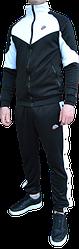 Спортивный костюм Nike Heritage (найк) черный с белым
