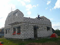 Строительство дома из газобетона в Киеве