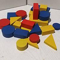 Навчальний набір «Логічні блоки», 60 кольорових геометричних фігур товщиною 3 та 6 мм