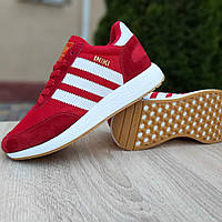 Кроссовки женские Adidas Iniki. Стильные кроссовки красного цвета. ТОП КАЧЕСТВО !!! Реплика