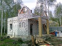 Кладка стены из газобетонных блоков Киев