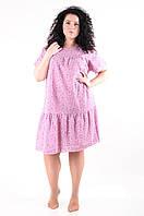 Легкое женское платье летнее размеры 50-54