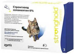 Stronghold (Стронгхолд) Краплі для кішок від паразитів 0,75 мл х 3 шт