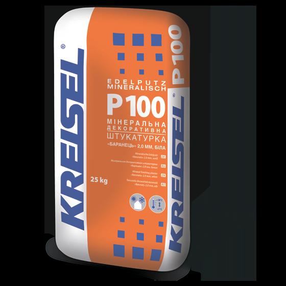 """Мінеральна декоративна штукатурка """"барашек"""" Kreisel P100 (25 кг)"""