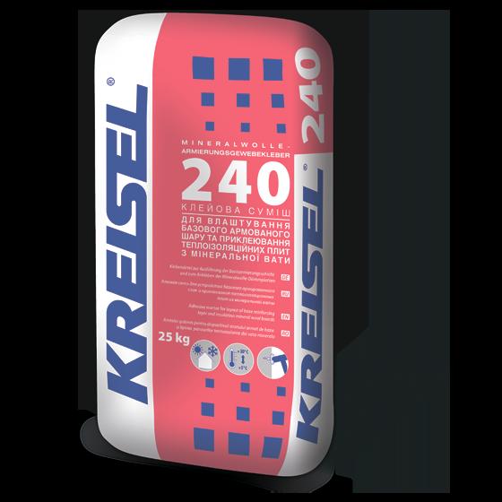 Клейова суміш для виконання армованого шару Kreisel 240 (25 кг)
