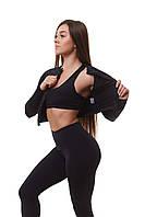 Женская спортивная кофта для фитнеса Asalart short Black