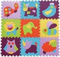 "Детский коврик-пазл Baby Great ""Веселый зоопарк"", 92х92 см"