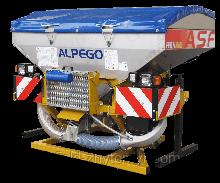 Фронтальний бункер Alpego ASmaX INOX ISOBUS (Багатофункціональний) на 2300 кг з монітором