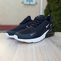 Кроссовки мужские Nike Air Max 270.Стильные мужские кроссовки черного цвета.ТОП КАЧЕСТВО!!! Реплика, фото 1