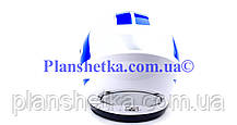 Мотошлем FXW HF-112 белый с синей полосой, фото 3
